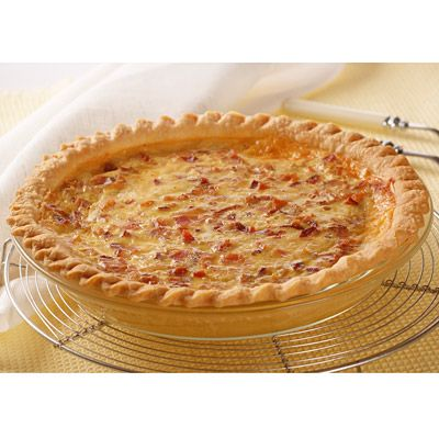 Printed Carnation Quiche Lorraine Almost Better The Next Day Bake For 50 Minutes Let Sit For 10 Minutes Quiche Lorraine Recipe Quiche Lorraine Recipes