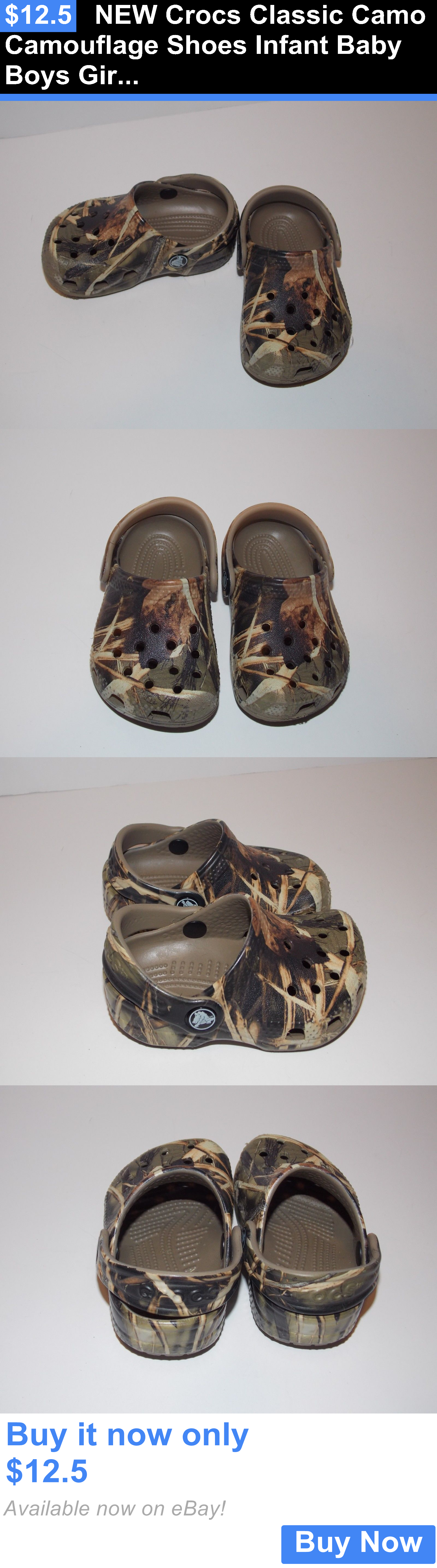Baby Boy Shoes New Crocs Classic Camo Camouflage Shoes Infant Baby