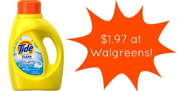 Walgreens Tide Clean Fresh Detergent Only 1 99 Tide