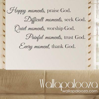 Praise God Wall Decal « Wallapalooza Decals