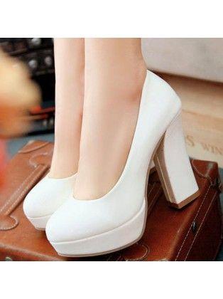 Chunky heel pumps, Chunky heels