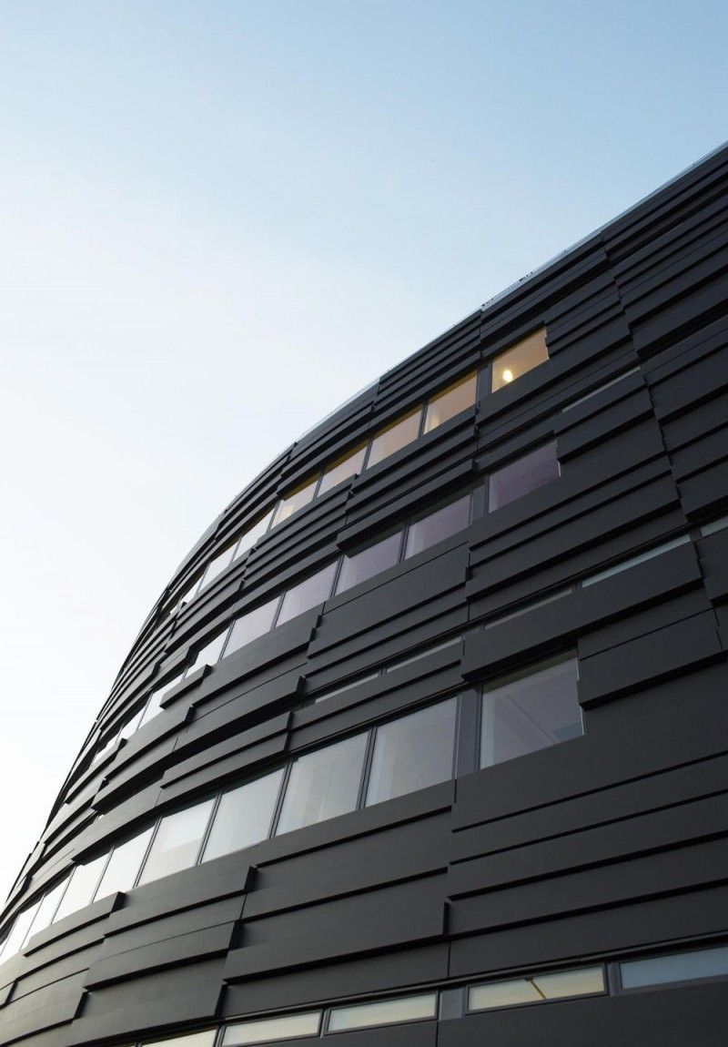 Architecture modern facades textures windows black district court in malm design by - Architecture moderne residentielle schmidt lepper ...