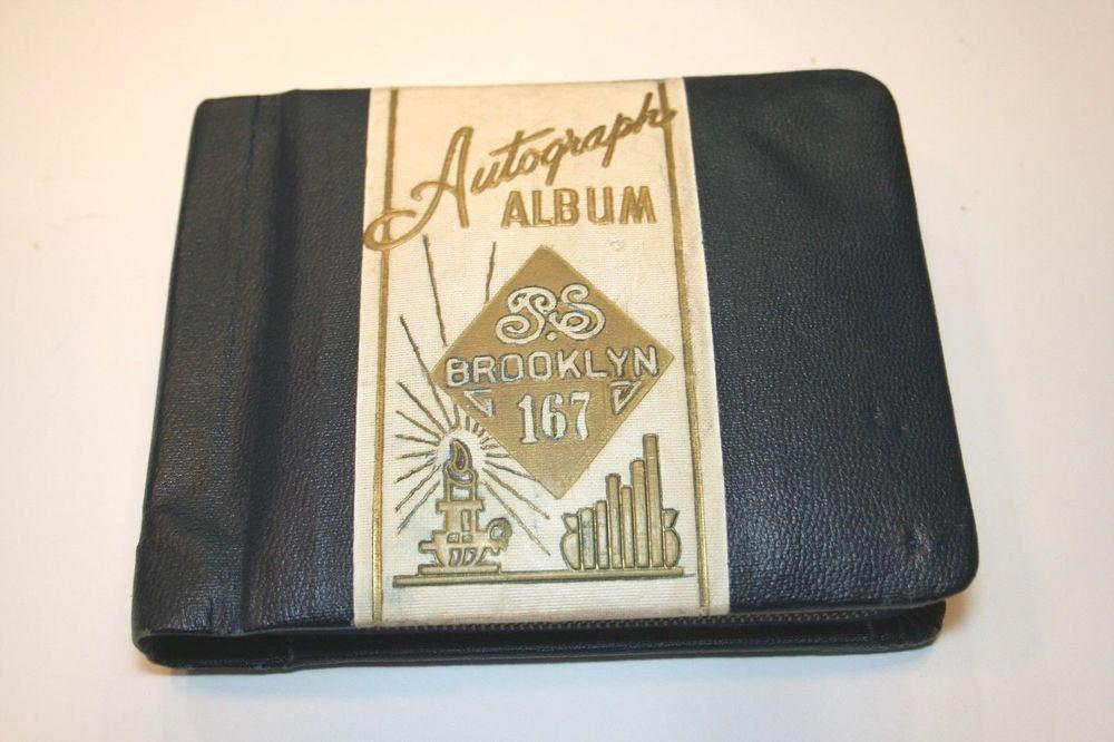 PS 167 NYC Brooklyn Autograph Book Photo Ephemera Estelle