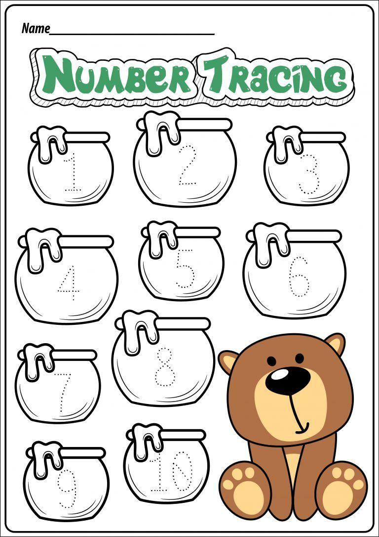 Free Bear Themed Printable Worksheets Teachersmag Com Bear Crafts Preschool Bear Theme Preschool Bears Preschool [ 1086 x 768 Pixel ]