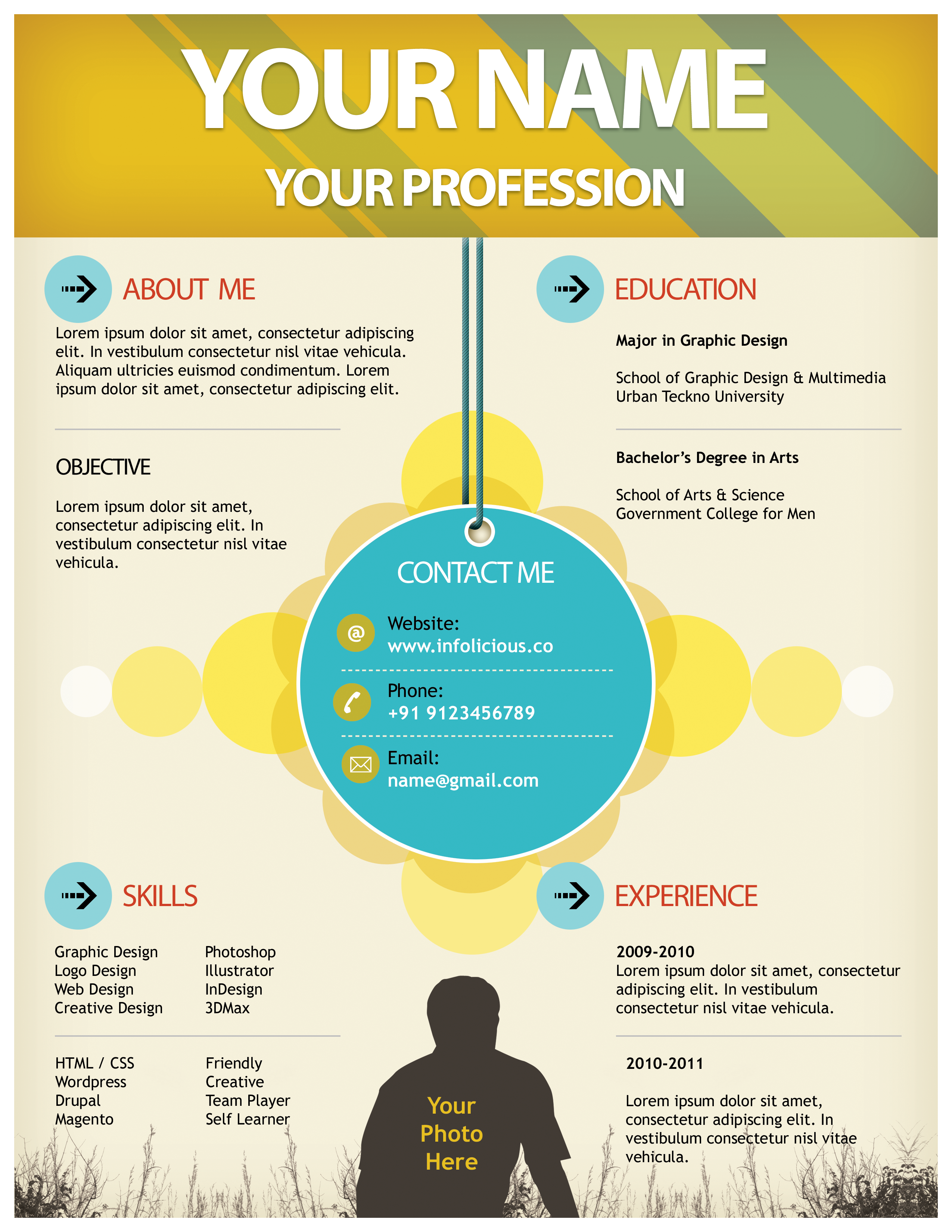 I can turn your resume into a beautiful infographic in 1 hour ...