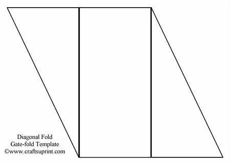 Diagonal Gate Fold Template Birthday Card Template Free Fancy Fold Cards Wedding Invitations Printable Templates