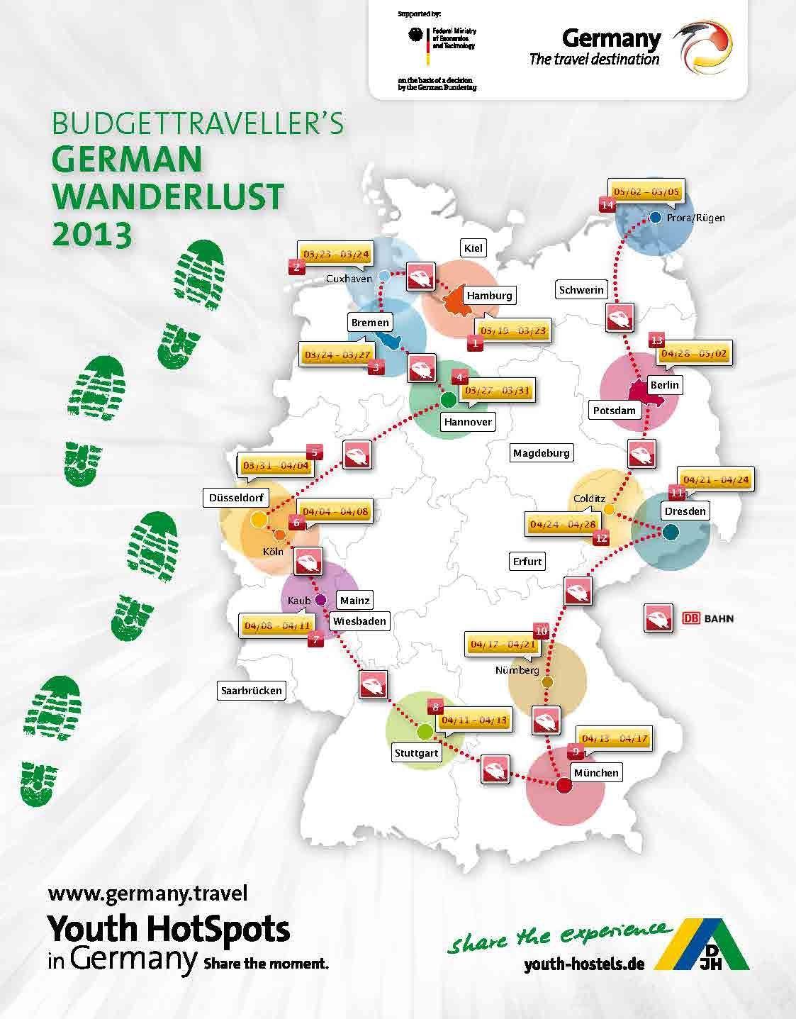 Blogger map German Wanderlust