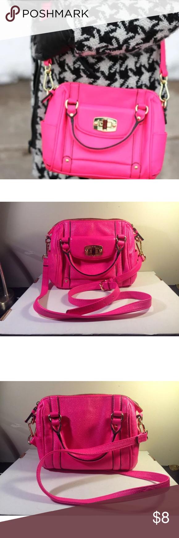 6f771ac2f2 MERONA Hot Neon So Pink Mini Purse Bag BAD ZIPPER MERONA Hot Neon So Pink  Mini