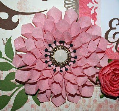 Ideas for scrapbookers handmade dahlia using the instructions from ideas for scrapbookers handmade dahlia using the instructions from holidash handmade paper flowersdiy mightylinksfo