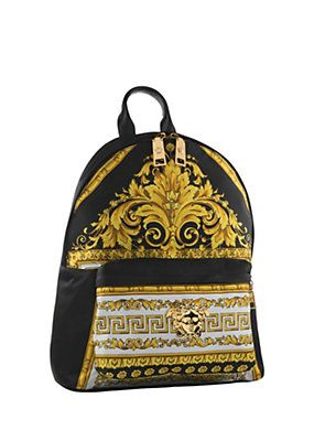 Versace Black Nappa Leather Backpack SS15VERSA1 Sneakerboy
