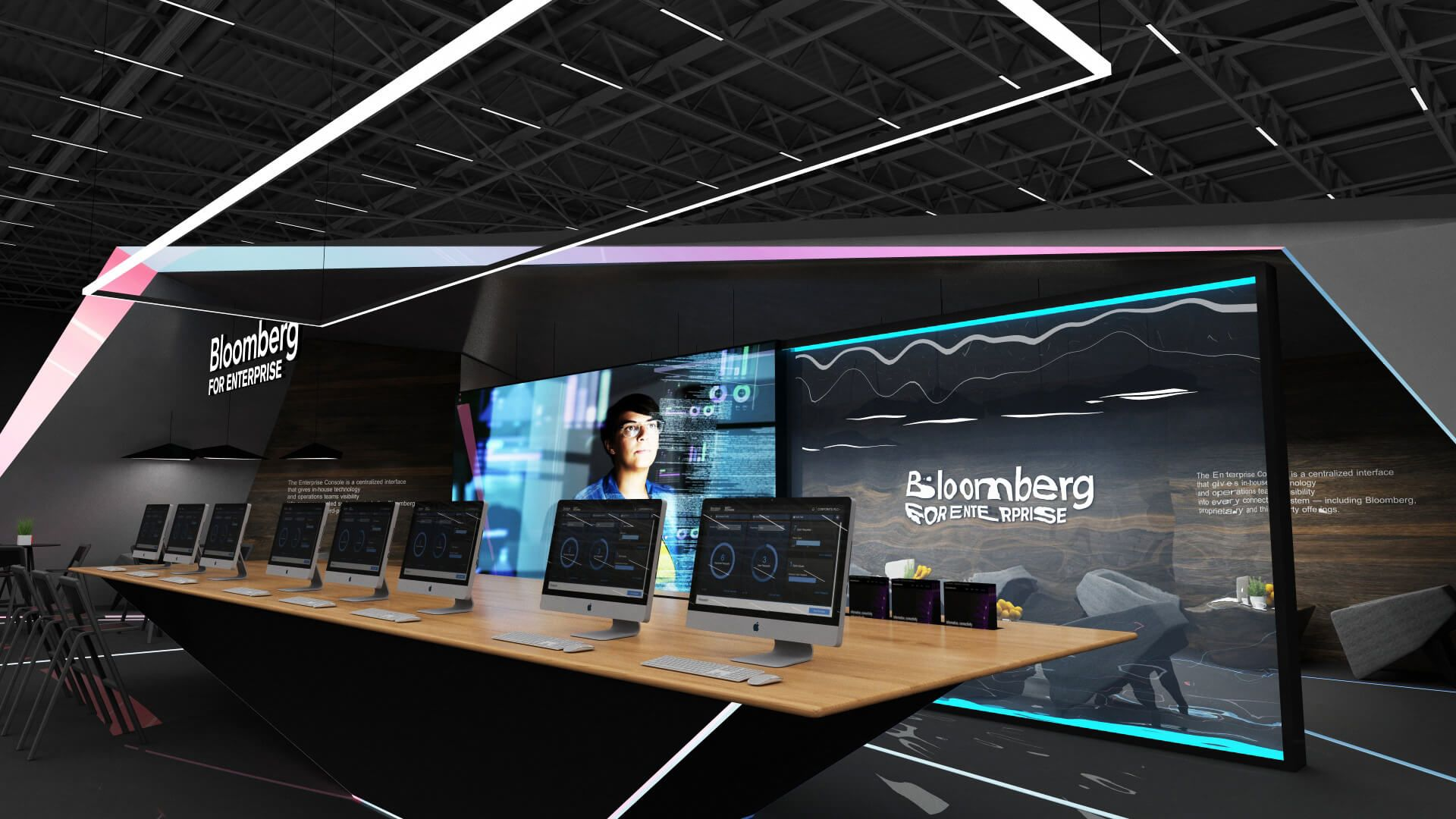 Exhibition Booth Design Concept : Bloomberg exhibition booth design concept exhibition stands