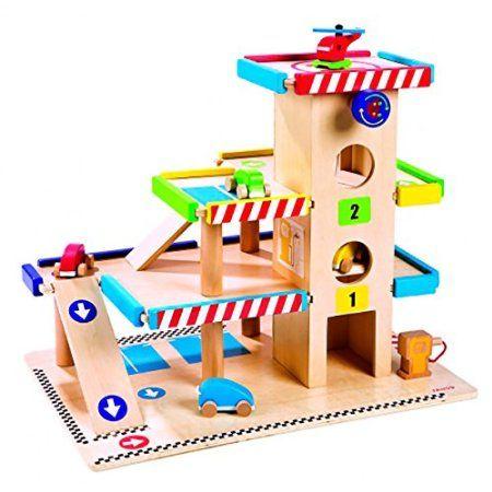 Janod - 05715 - Jouet en Bois - Garage Rêves et jeux d\u0027enfants - Montage D Un Garage En Bois