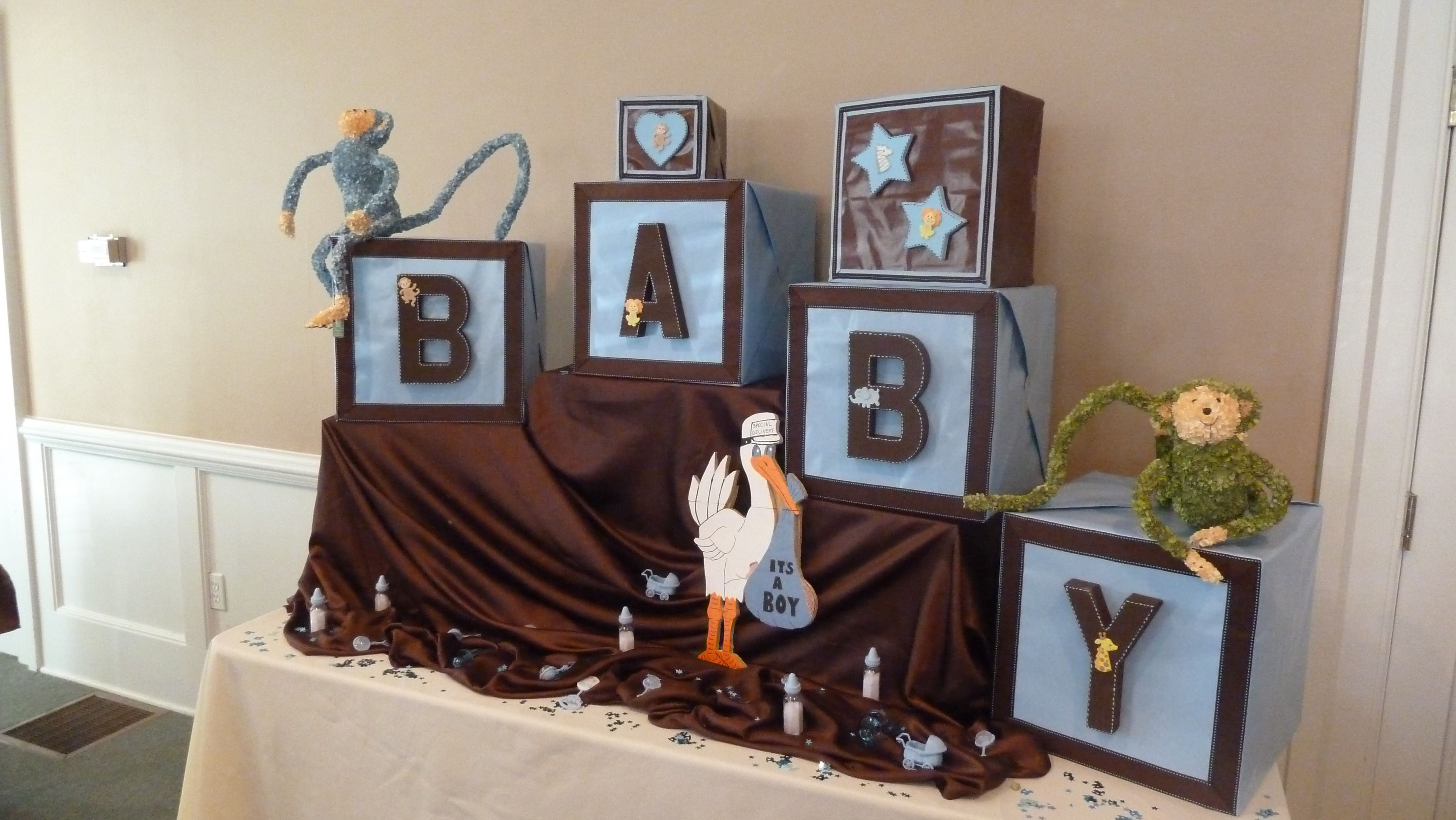 """BABY """"ABC"""" blocks made from regular boxes and wrapping paper"""