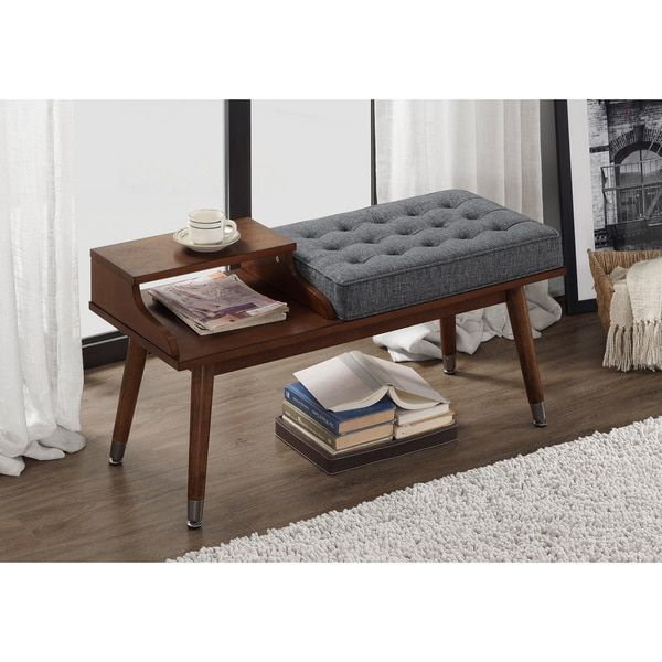 Cheap Discount Furniture Online: Granite Tufted Telephone Bench