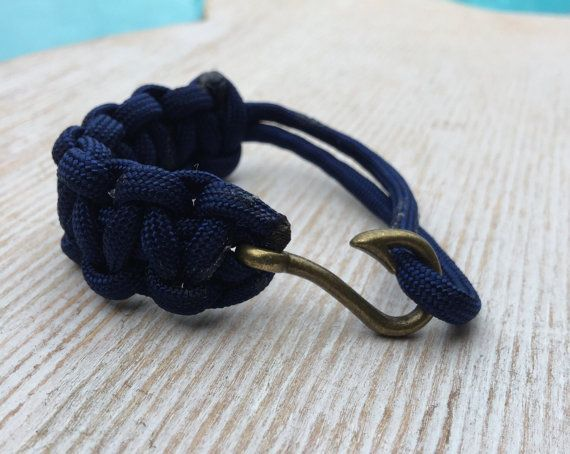 Bronze Fish hook Paracord Bracelet by Upyouranchor on Etsy