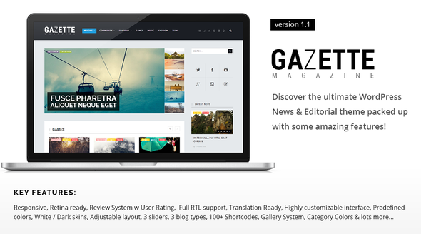 Gazette Magazine - WordPress Community Theme