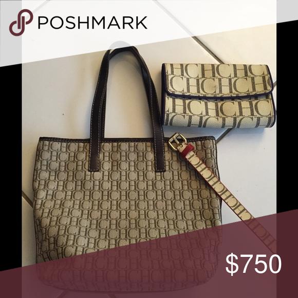 Ch Shoulder Bag Bundle Carolina Herrera Separate Only Cost 500 Pouch 220 Belt 180 Original Price Bags