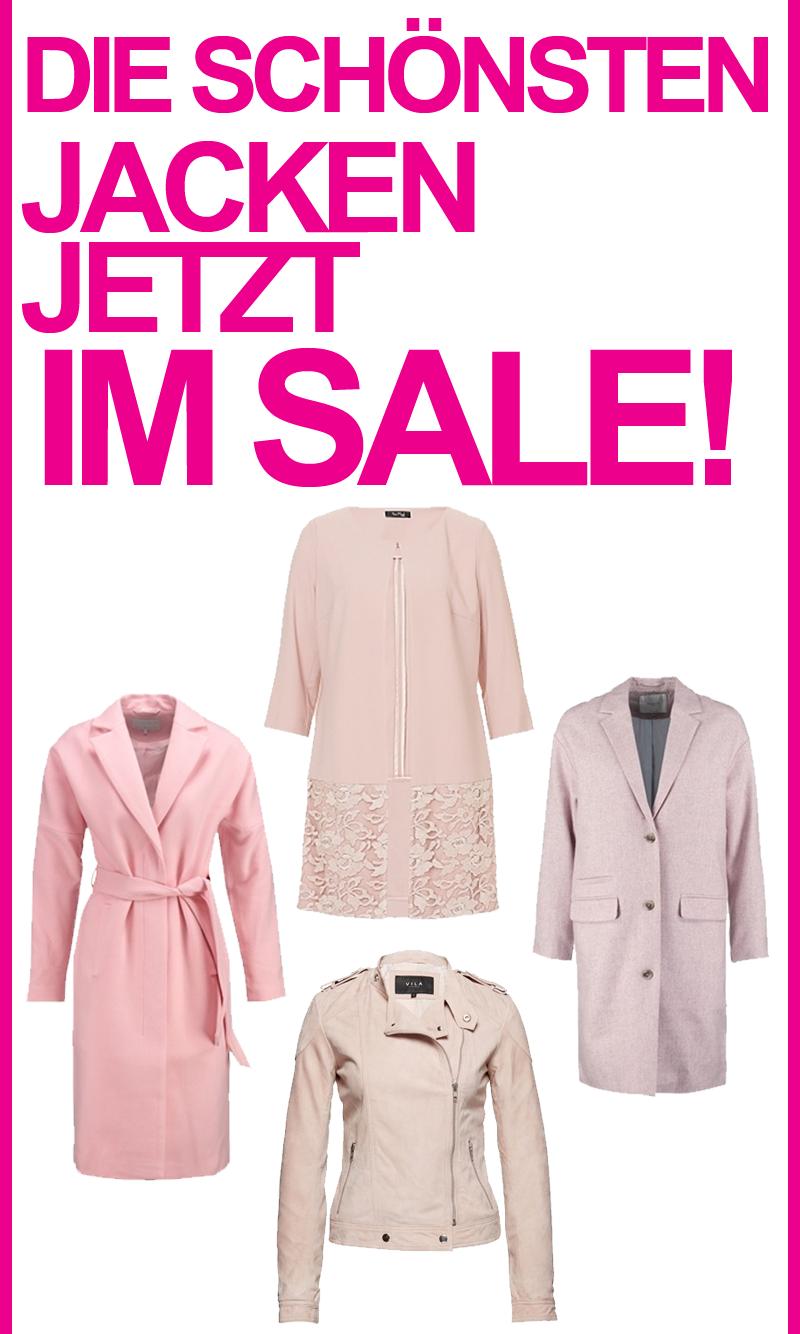 Schöne Jacken in Pastellrosa ♥ #sale #rosa #jacke #mantel