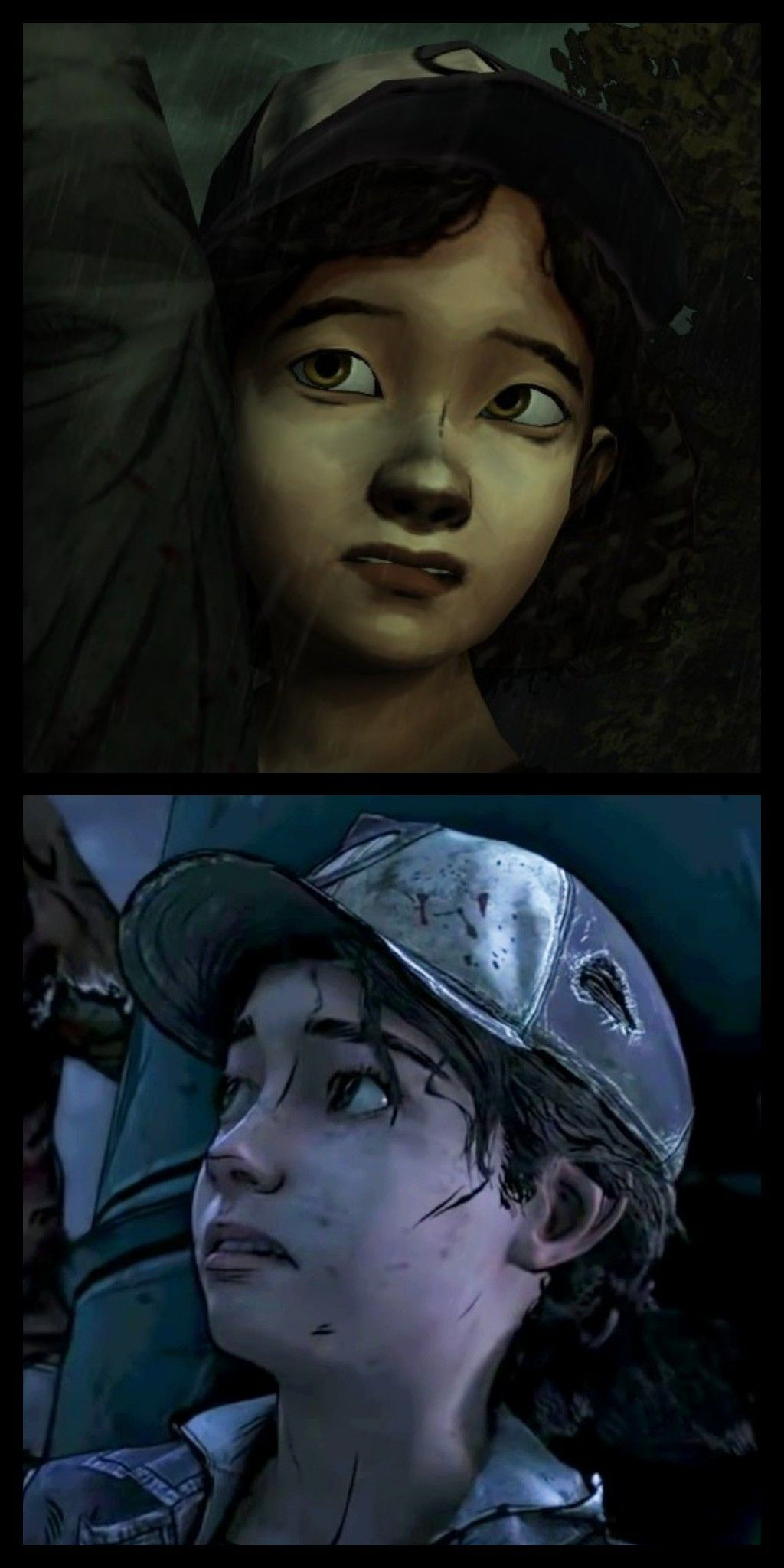 Clementine s1 and s4   The Walking Dead Game   Walking dead