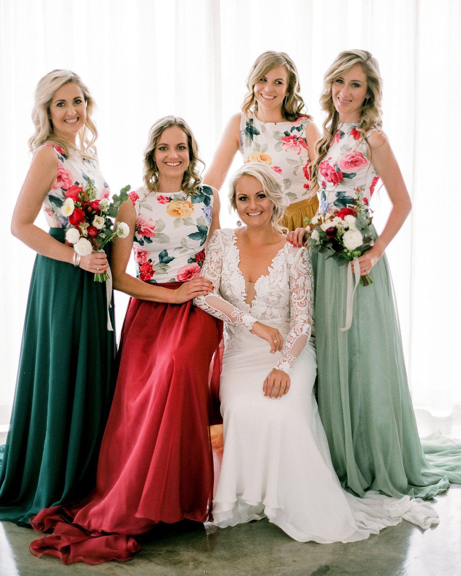 506f5501aa 25 Two-Piece Bridesmaids  Looks  BridesmaidDresses  WeddingInspiration   WeddingIdeas  TwoPieceBridesmaidDresses