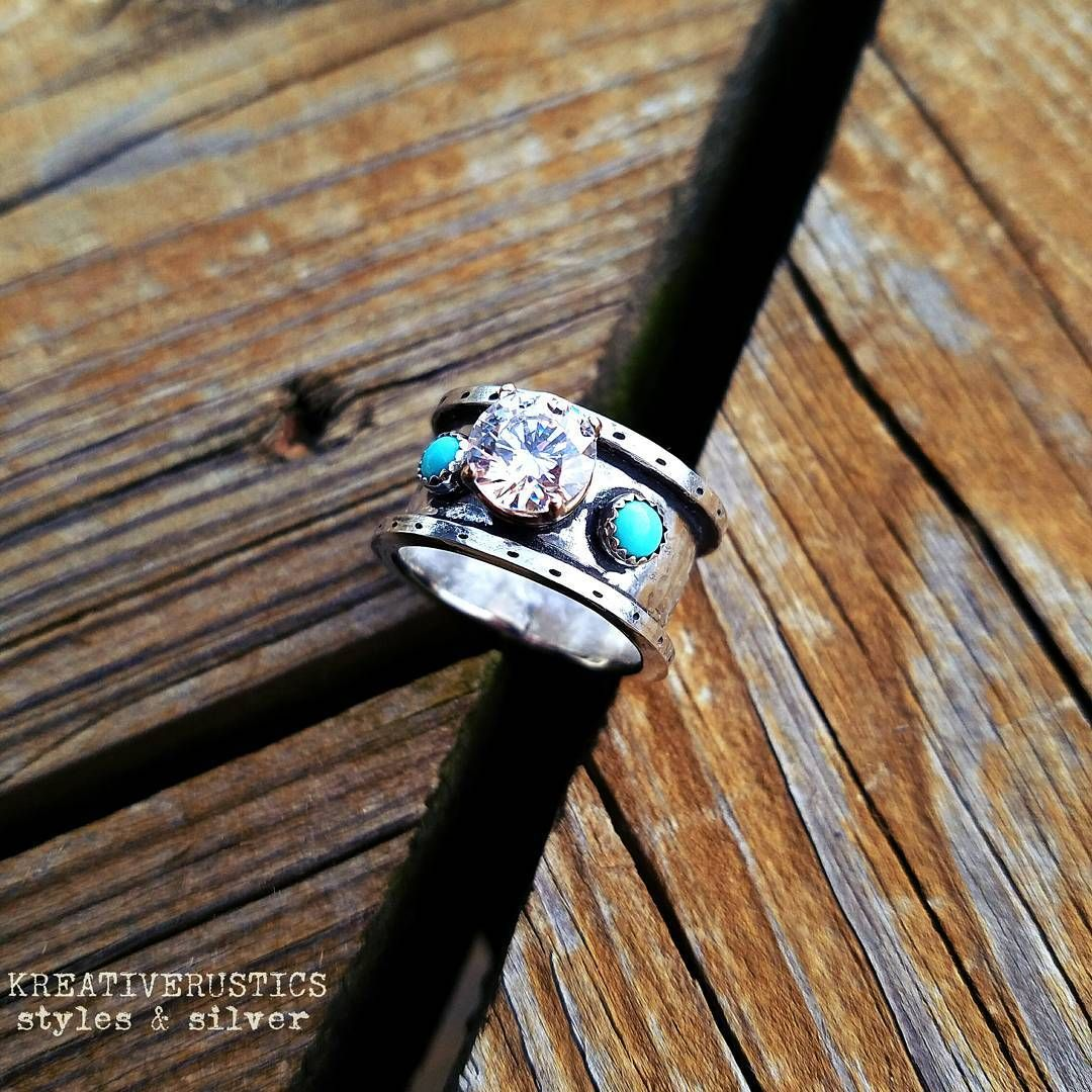"Kreativerustics » Styles Silver Custom Handmade Western Ring Customring Turquoise Cowgirl Bling Handsted…"": Handmade Western Style Wedding Rings At Reisefeber.org"