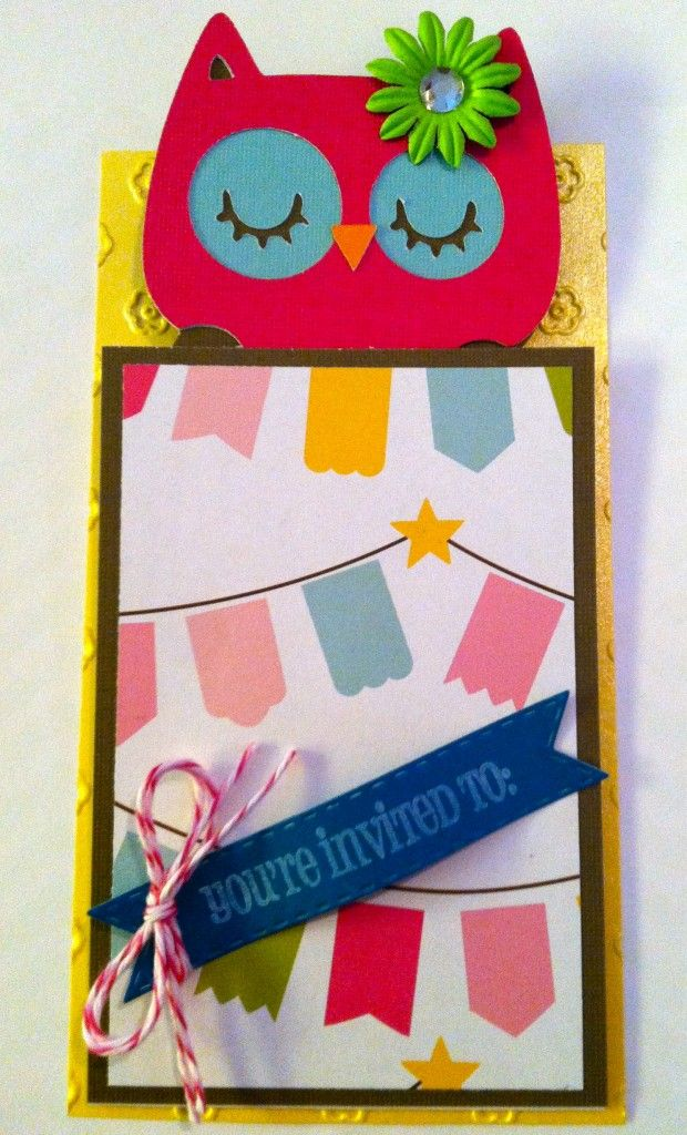 Night Owl Slumber Party Invitation - Owl in a Sleeping Bag ...