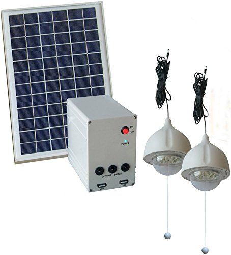 139 99 Lithum Battery 2x6w Led Lamps 2 Usb Hs2 Solar Home System Http Bit Ly 2dsoo4b 2x 6w Led Light Each Solar Panels House System Solar House