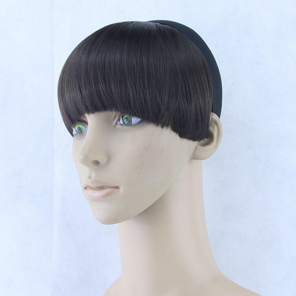 Bowl cut haircut men  colors hair fringe hair bang with clip black brown blonde