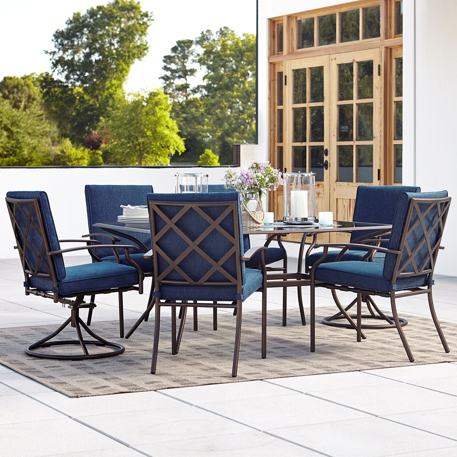2017 Best Outdoor Dining Room Furniture Variety To Add Charm And Style Patio Furniture Dining Set Blue Patio Furniture Outdoor Furniture Design