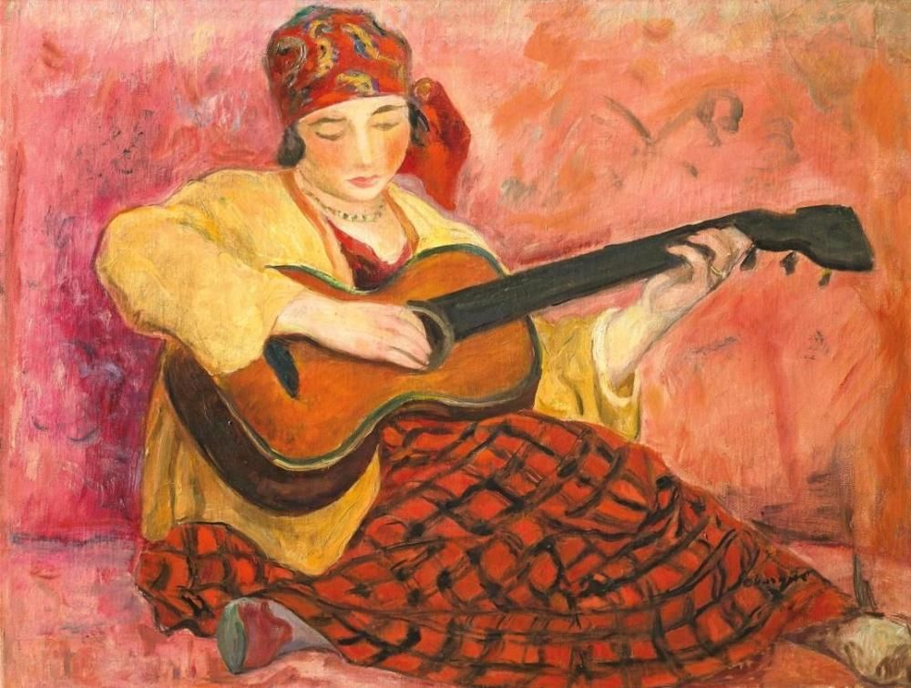 Girl With A Guitar Henri Lebasque Circa 1923 Fine Art Giclee Impressionism With Images Art Art Day Impressionist Art