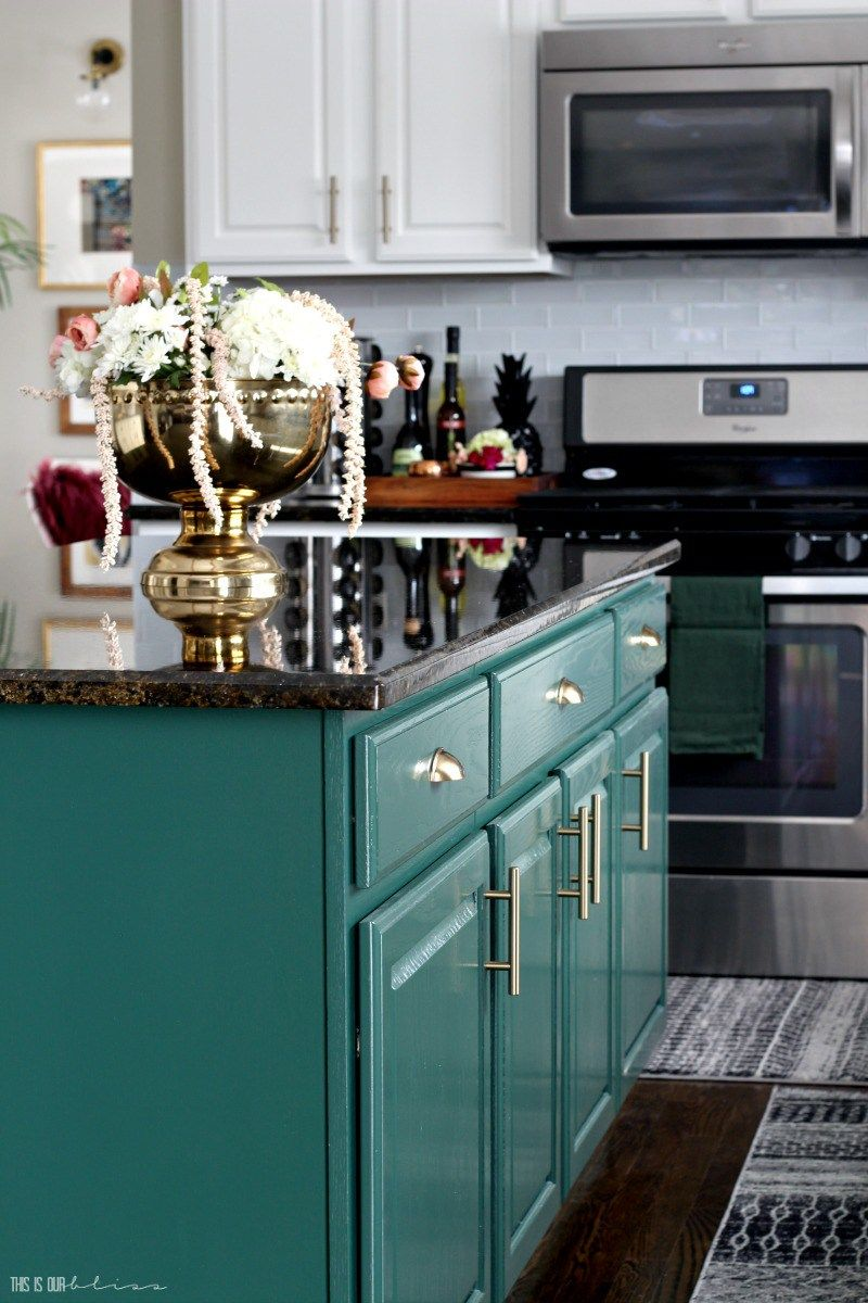Bright, White and Bold Kitchen Revamp Reveal Part 1 | Bald ...