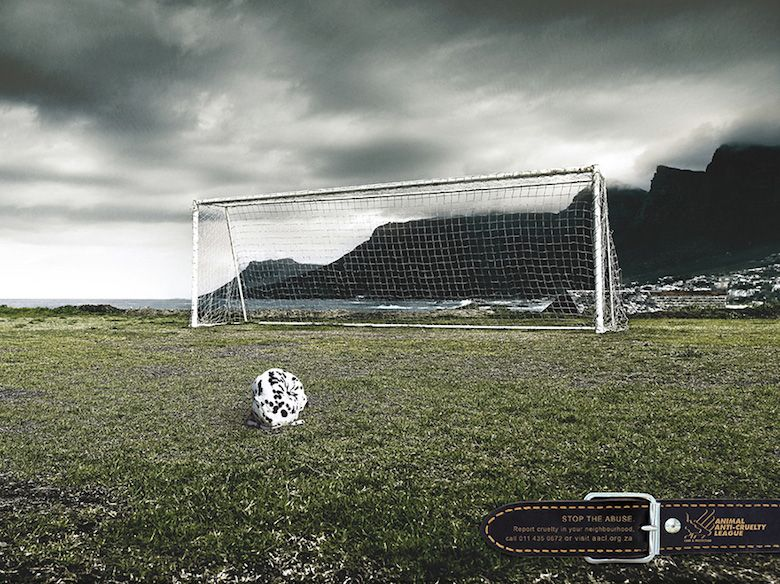 This PSA Cleverly Links A Dalmatian Dog To A Soccer Ball The - 35 controversial shocking adverts make stop think