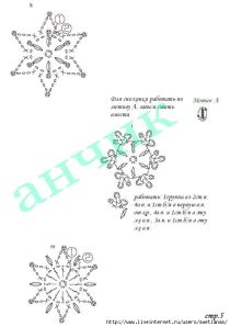 lots of snowflake crochet charts ****