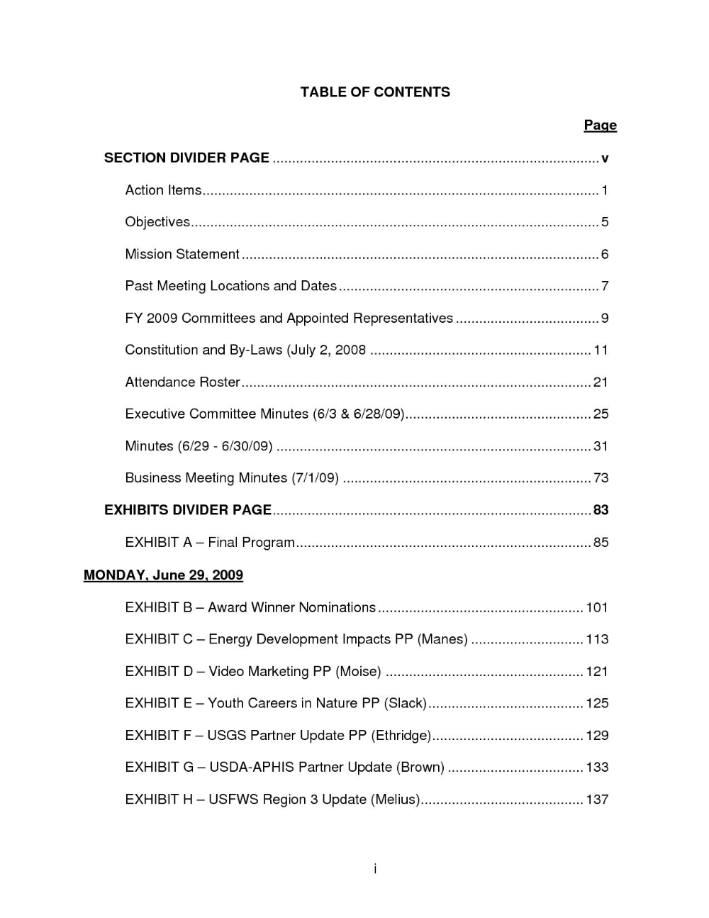Report Content Page Template Contents Page Template Content Page Table Of Contents Template