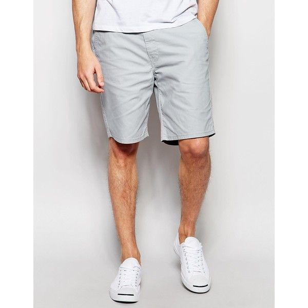 Levi's Chino Shorts Straigth Fit Light Weight Canvas Ash Grey (3.895 RUB) ❤  liked on Polyvore featuring men's fashion, men's clothing, men's shorts,  grey, ...