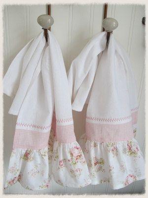 Delilah Decorative Ruffled Hand Towels Shabby Chic Kitchen Curtains Shabby Chic Kitchen Shabby Chic