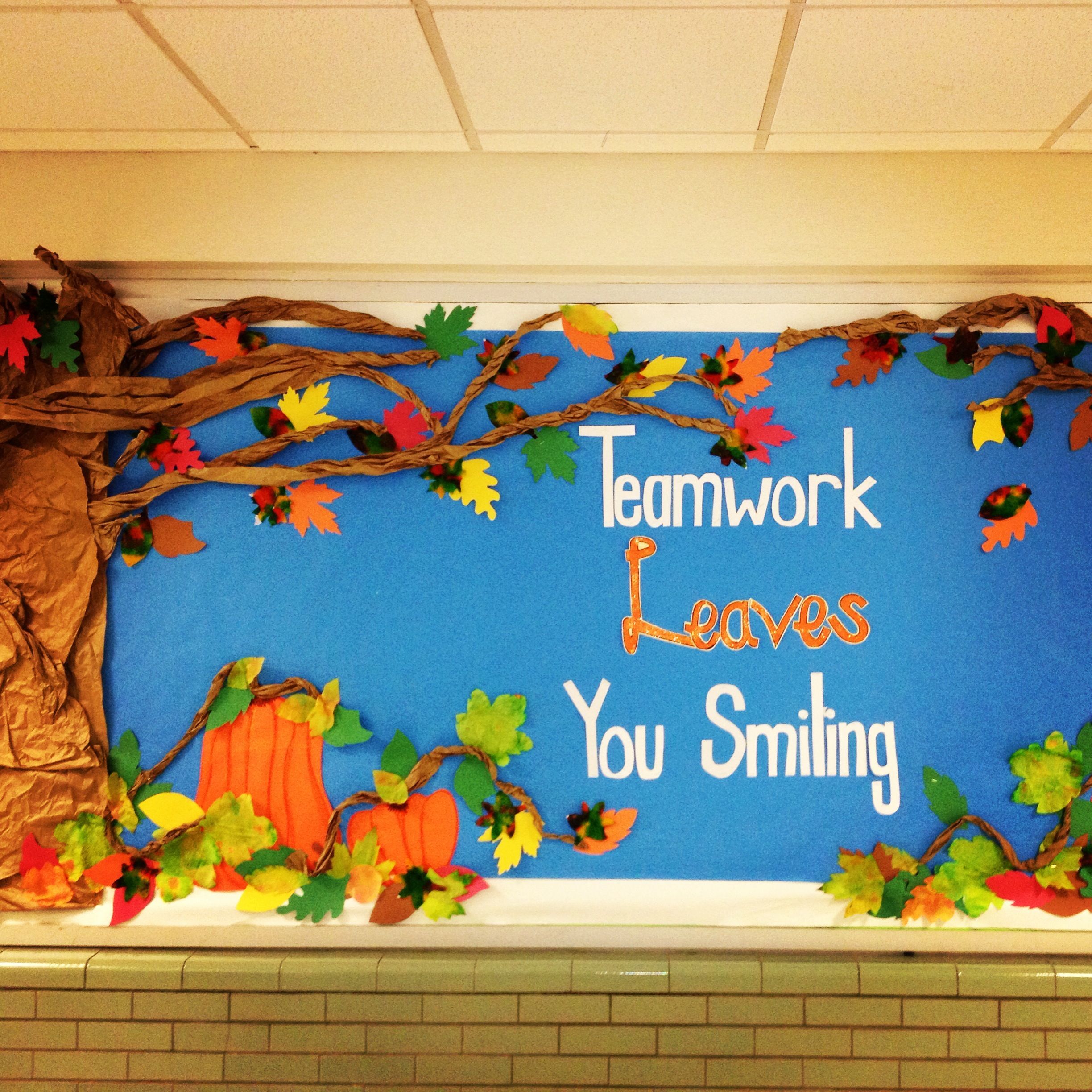 ordinary Bullentin Boards For Fall Part - 7: This years fall PTA bulletin board.