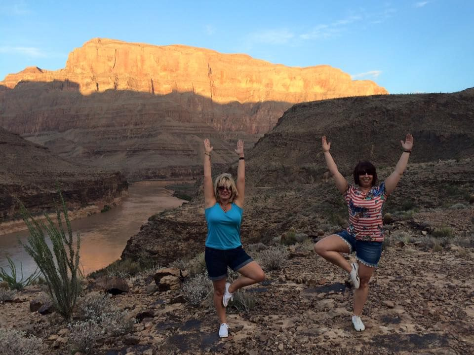 Brilliant Grand Canyon Yoga Pose sent in by Tracy Bailey and Sara Howard. Thanks ladies, amazing location to do some stretching :)