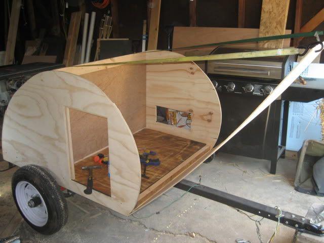 Motorcycle Teardrop Trailer Plans Mini Teardrop Build Cool Diy