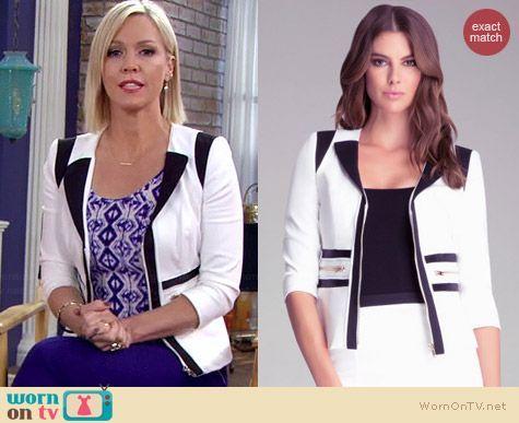 Charlie's black and white colorblock blazer on Mystery Girls.  Outfit Details: https://wornontv.net/35014/ #MysteryGirls