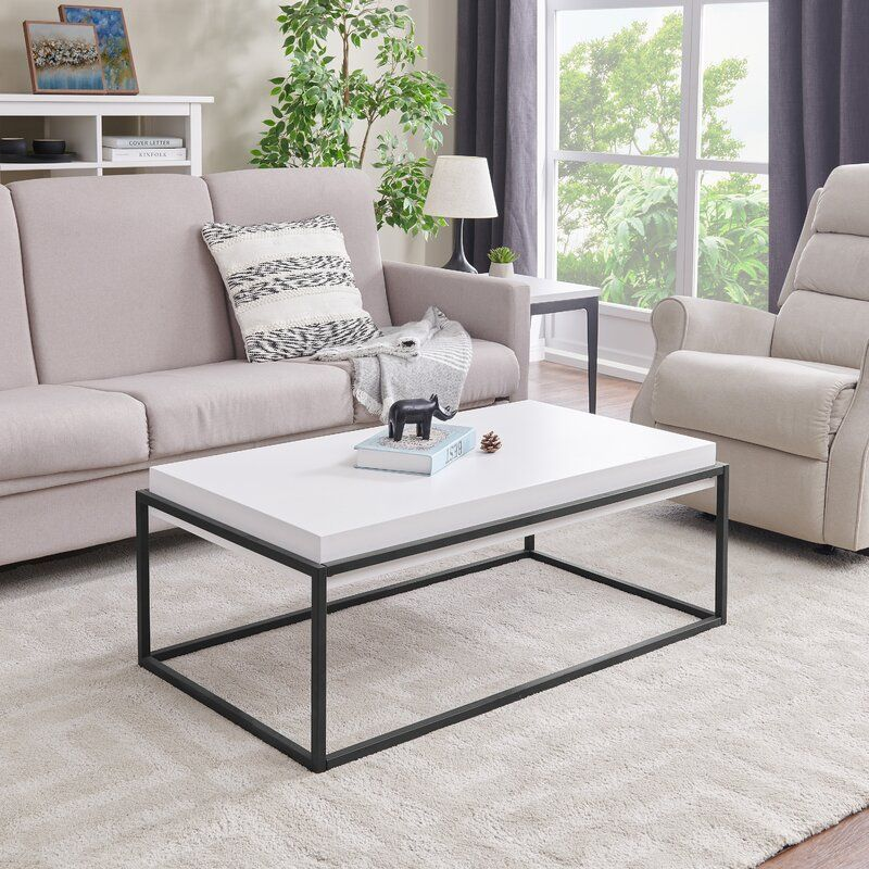 Roesler Frame Coffee Table Table Decor Living Room White Coffee Table Living Room Coffee Table