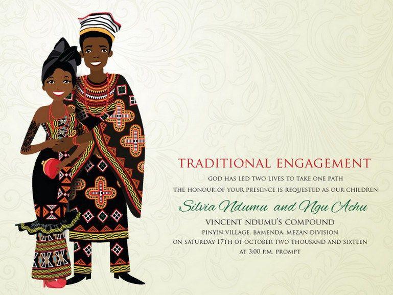 10 African Wedding Invitations Designed Perfectly Knotsvilla