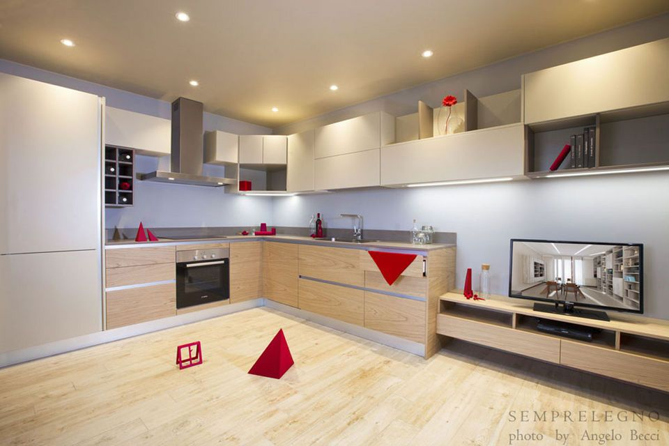 Made to measure kitchen furniture italian design made in italy by semprelegno craftsmen for Arredamento interno casa moderna