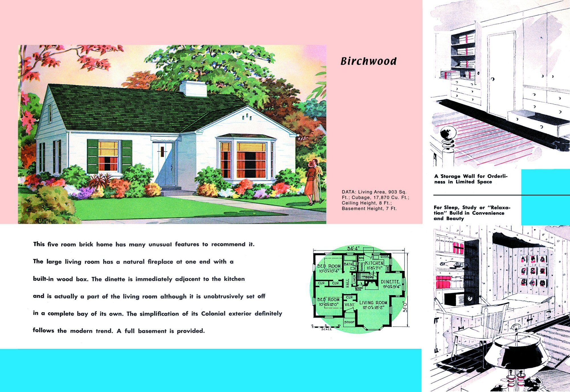 1940s and 50s house plans birchwood houses and floor for 1940 house plans