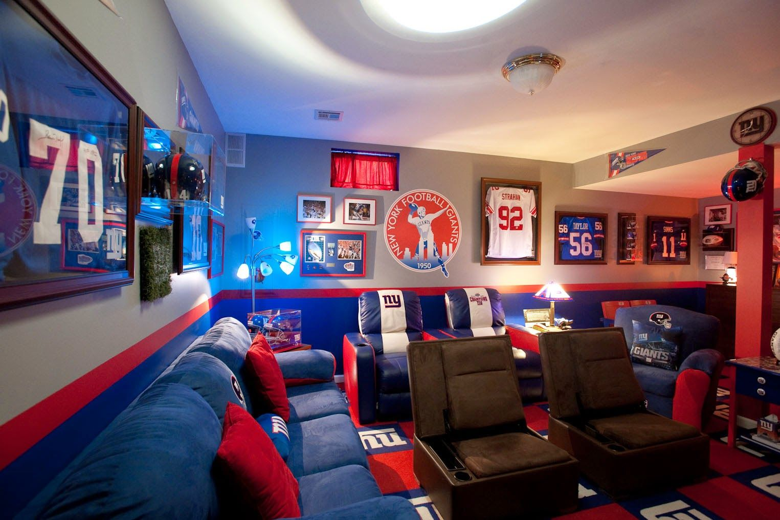 images of sport themed basements | Sports Themed Basement Ideas