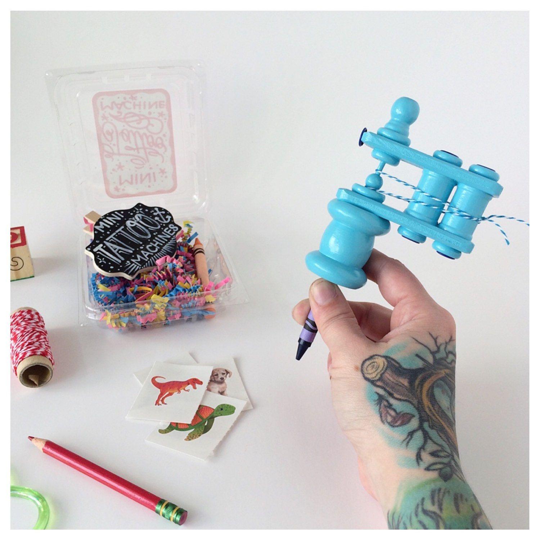 Mini Tattoo Machine Kids Handmade Tattoo Machine Toy Mini Tattoos Tattoos For Kids Tattoo Machine