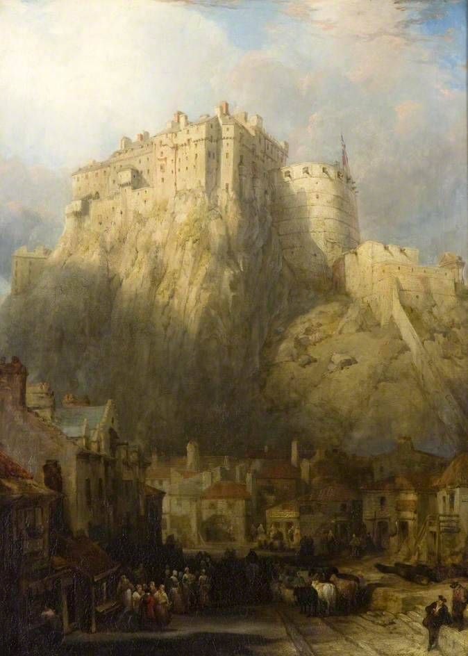 Edimburgo from the Castle David Roberts Inghilterra città torri collina B a3 01383