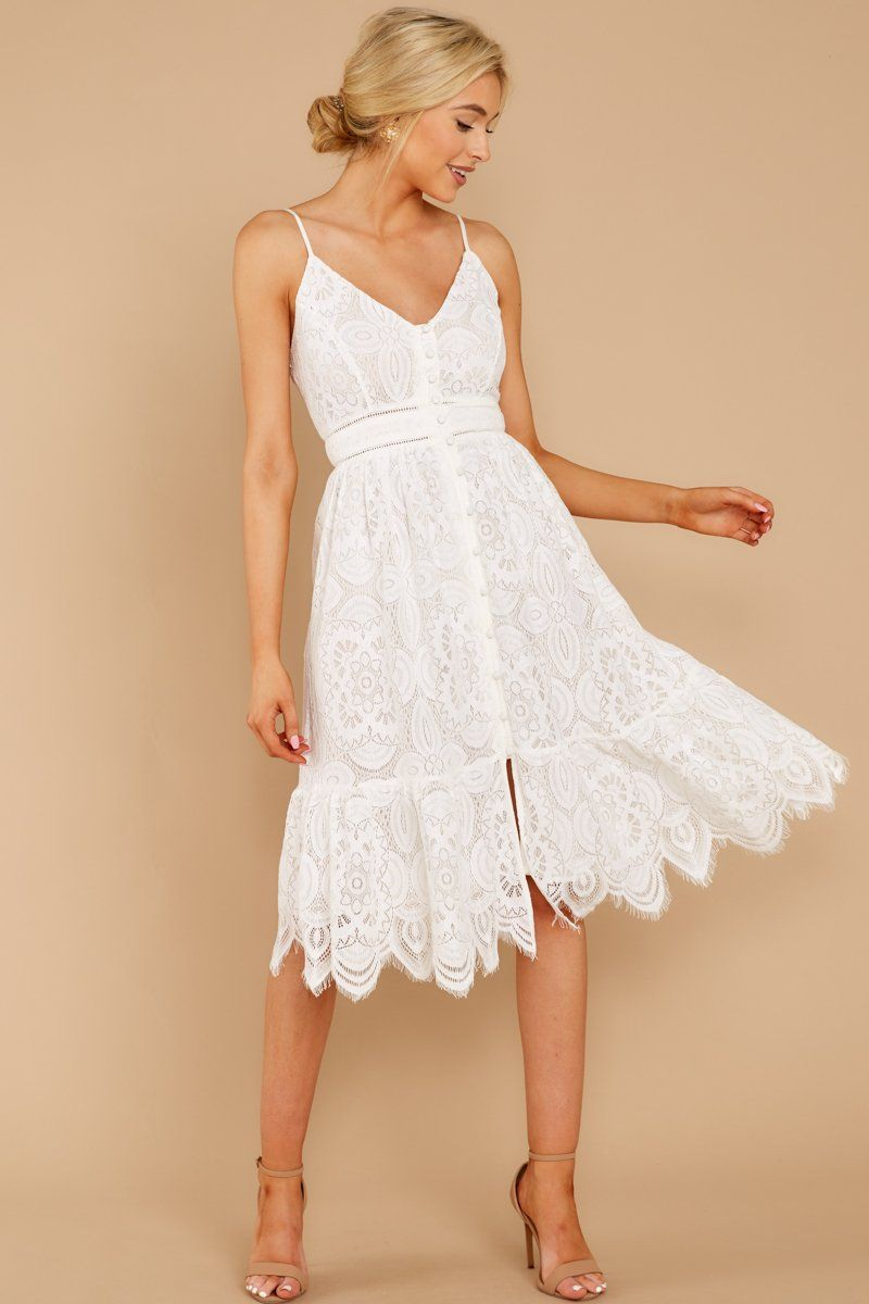 A Little Enchantment White Lace Dress -   17 white dress Midi ideas
