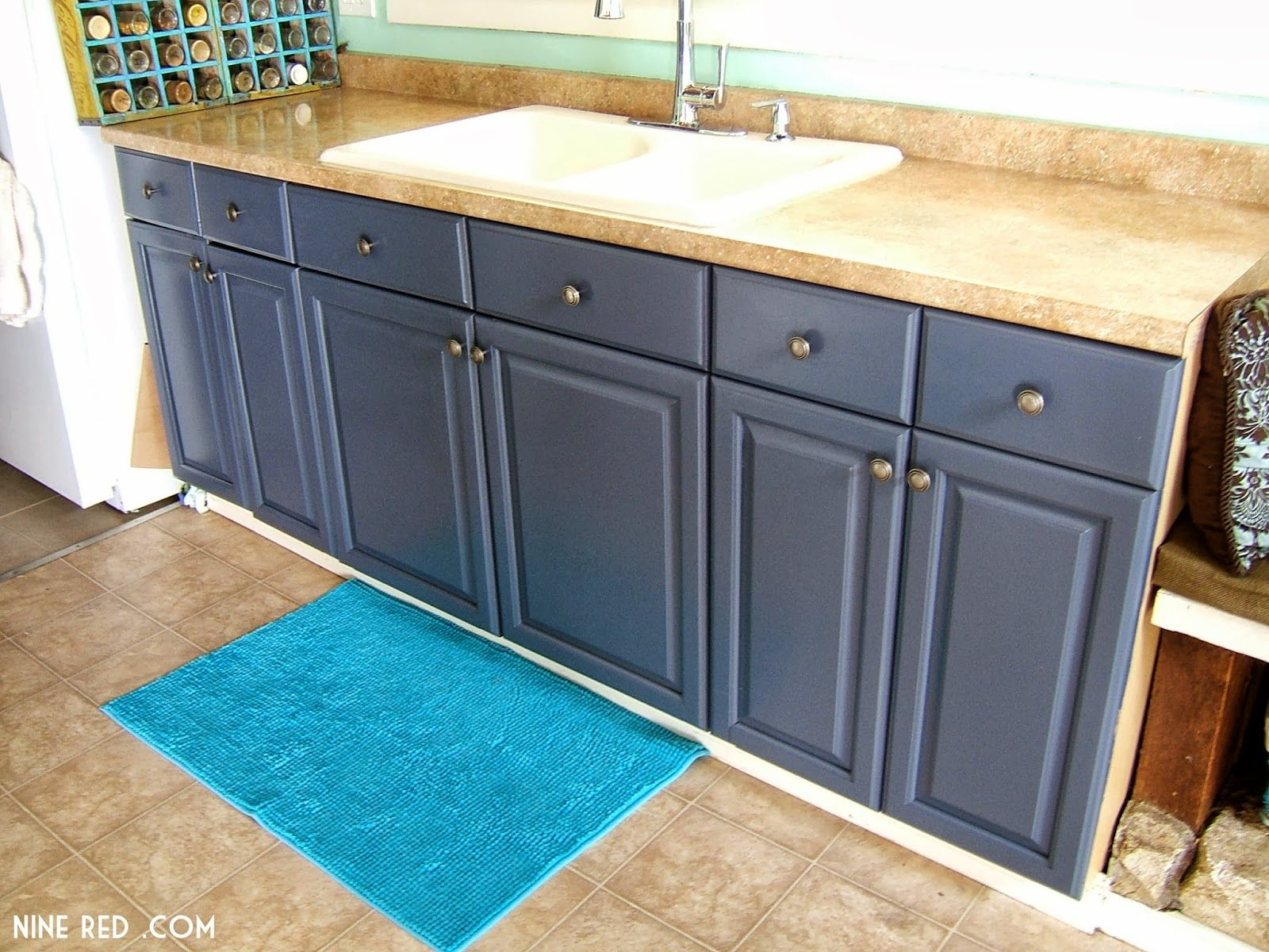 blue grey painted kitchen cabinets love blue grey slate blue kitchen ...