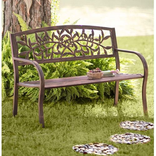 Wind Amp Weather Tuscany Iron Garden Bench Wrought Iron Outdoor Furniture Outdoor Garden Bench Metal Garden Benches